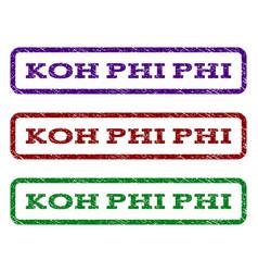 koh phi phi watermark stamp vector image