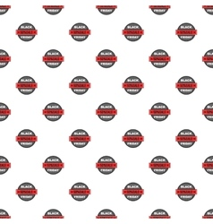 Label black friday fifty percent sale pattern vector