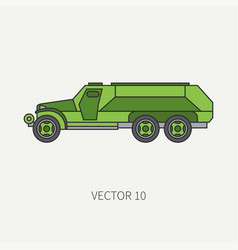 line flat color icon infantry assault vector image vector image