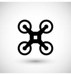 Modern drone icon vector image