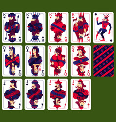 poker playing high cards set vector image