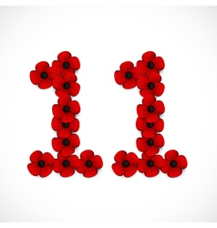 Poppies number eleven vector