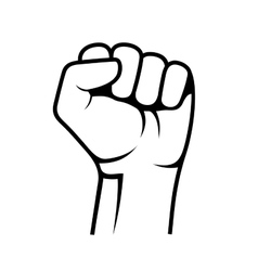 Raised Fist on White Background vector image