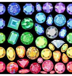 Seamless scattered gems rhinestones vector