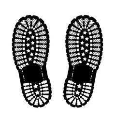 Shoe print vector