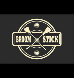 Stamp with broomstikc text vector