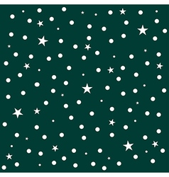 Star Polka Dot Dark Green Background vector image