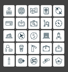 Transportation icons set collection of road map vector