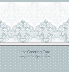 vintage lace background with handmade vector image