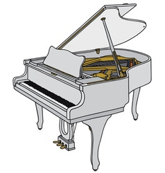 White piano vector