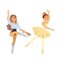 Ballerina dancer girl vector