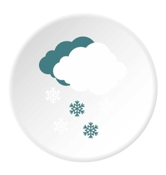Cloud and snow icon flat style vector