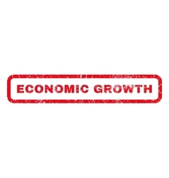Economic growth rubber stamp vector