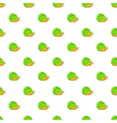 Cabbage and carrots pattern cartoon style vector