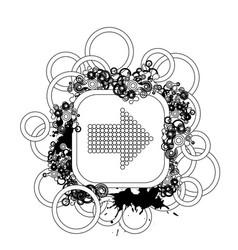halftone background design vector image