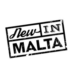New in malta rubber stamp vector
