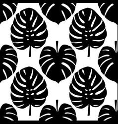 monstera seamless pattern vector image