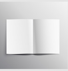 Book page mockup template design vector