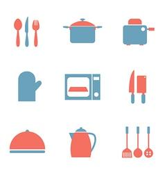 Utensils Icons set 9 vector image