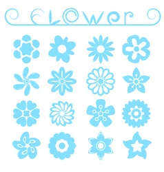 Flower ornaments set vector