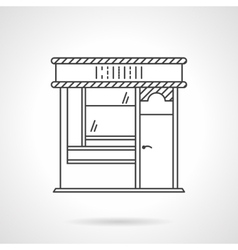 Bakery front flat line icon vector