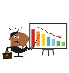Angry Businessman Pointing to a Board vector image