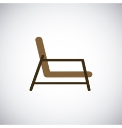 Chair design seat icon furniture concept vector