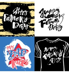 Fathers day concept hand lettering motivation vector