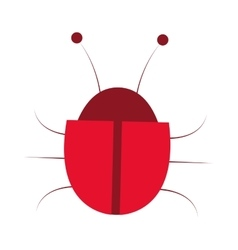 Red bug icon vector