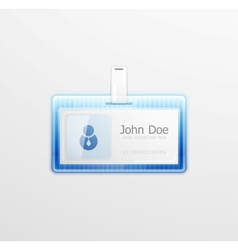 Personal id badge vector