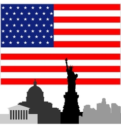 Architecture of the United States vector image
