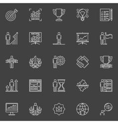 Personal development icons vector