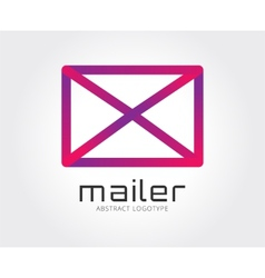 Abstract mail logo template for branding vector image
