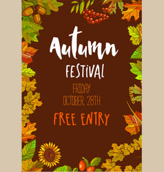 autumn festival on friday october 28th with free vector image vector image