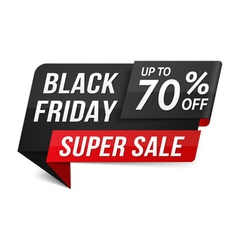 Black Friday Super Sale vector image vector image