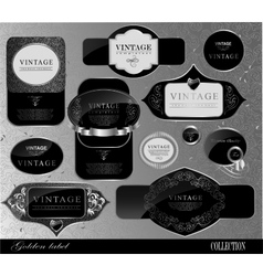 black gold labels vector image vector image