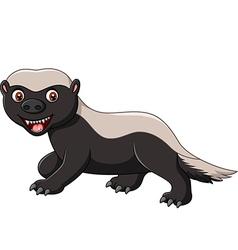 Cartoon funny honey badger isolated vector