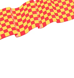 Checkered racing flag on top vector