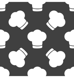 Chef cap web icon flat design Seamless gray vector image vector image