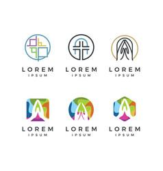 Church logo collection vector