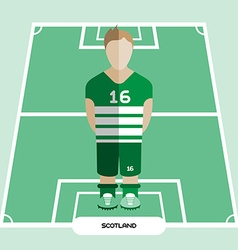 Computer game scotland soccer club player vector