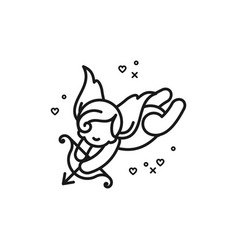 Cupid icon love symbol wedding and valentines vector