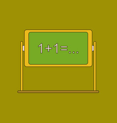 flat icon with thin lines blackboard vector image