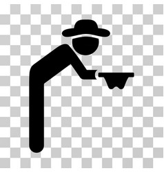 Gentleman beggar icon vector