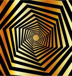 Golden furutistic background vector image