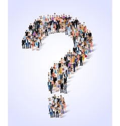 Group of people question poster vector image vector image