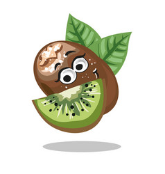 Kiwi cute fruit character isolated on vector