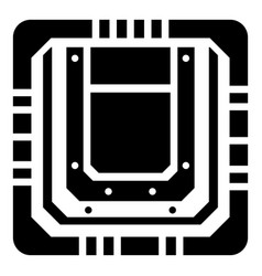 modern microchip icon simple black style vector image vector image