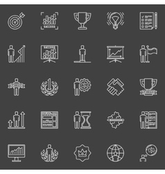 Personal development icons vector