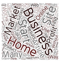 Quicker Home Business Profits text background vector image vector image